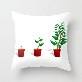 Plant Growth Throw Pillow