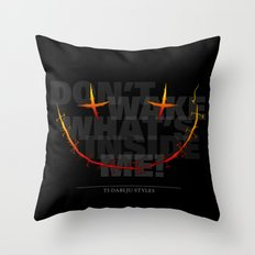 don't wake what's inside me! Throw Pillow