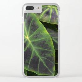 Big Leaf Garden Clear iPhone Case