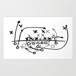 Football Soccer strategy play Diagram  Art Print