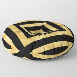 ART DECO SQUARES BLACK AND GOLD #minimal #art #design #kirovair #buyart #decor #home Floor Pillow