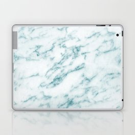 Ribbons of Aqua and White Marble Laptop & iPad Skin