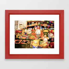 Taiwan Komori Mice Framed Art Print
