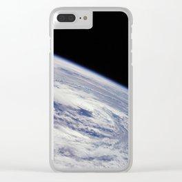 Apollo 7 - Earth Hurricane Clear iPhone Case