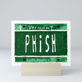 Phish license plate Mini Art Print