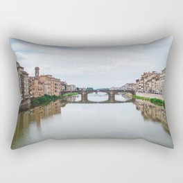 Ponte Vecchio Bridge in Florence Italy | Architecture City Travel Photography Rectangular Pillow