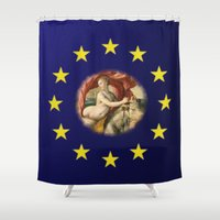 europe Shower Curtains featuring Europe by Turul