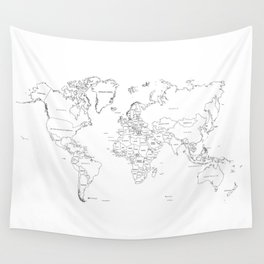 Paint your World Map Wall Tapestry