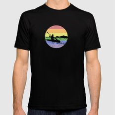 kayaking Mens Fitted Tee Black MEDIUM