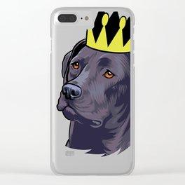 Labrador black king Clear iPhone Case