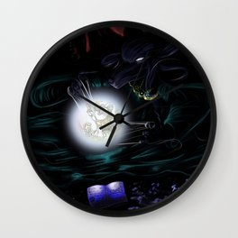 she-wolf priest Wall Clock