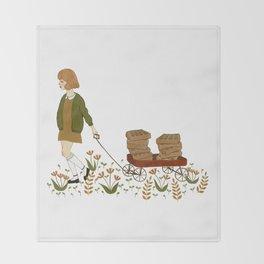 waffle wagon Throw Blanket