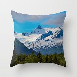 Bear_Creek Mountain Glacier - Alaska Throw Pillow
