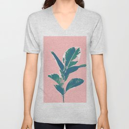 Ficus Elastica Finesse #3 #tropical #foliage #decor #art #society6 Unisex V-Neck