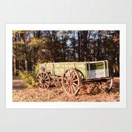 Fall farm days Art Print