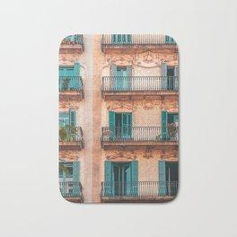 Barcelona Facade Building, Urban Architecture, City Of Barcelona, Spain Travel Print Bath Mat