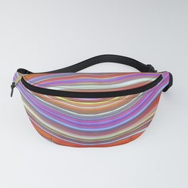Wild Wavy Lines 11 Fanny Pack