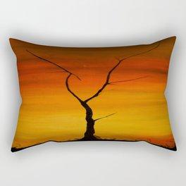 contemplacion del silencio Rectangular Pillow