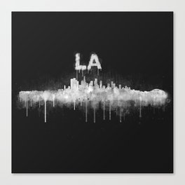 Los Angeles City Skyline HQ v5 WB Canvas Print