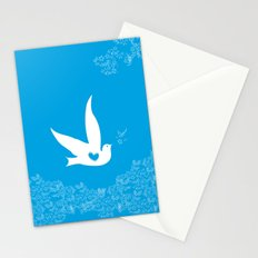 Love and Freedom - Blue Stationery Cards