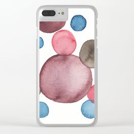 Color Sphere Circle Watercolor Clear iPhone Case