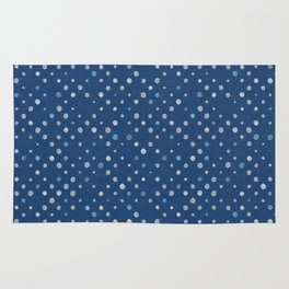 LOTS OF DOTS / indigo blue / linen beige / light blue Rug