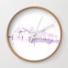 Watercolor landscape illustration_Sahara Wall Clock