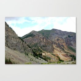 First View of the Sunnyside Mill, Coming Up the Animas River Canvas Print