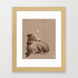 All the dogs in the sky Framed Art Print