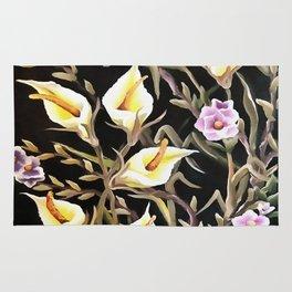 Arum Lily Artistic Floral Design Rug
