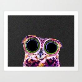 Electric Owl Art Print