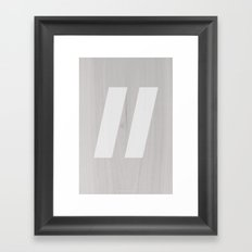 Slash White Framed Art Print