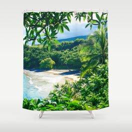 Hamoa Beach Hana Maui Hawaii Shower Curtain