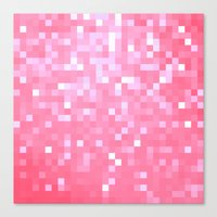 bubblegum Canvas Prints featuring Bubblegum Pink Pixels by 2sweet4words Designs