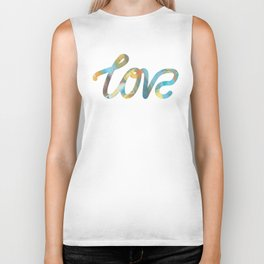 "The Love Series #25 - ""Love"" (typography) Biker Tank"