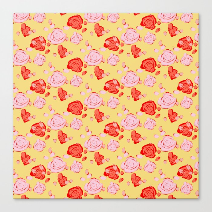 Roses pattern 3b Canvas Print