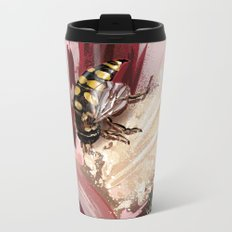 Wasp on flower 7 Metal Travel Mug