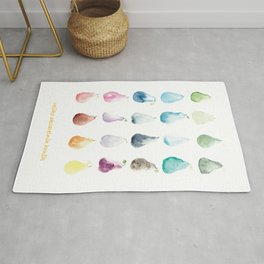 A Lot of Watercolor Pears Rug