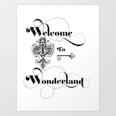 Alice In Wonderland Welcome To Wonderland Art Print