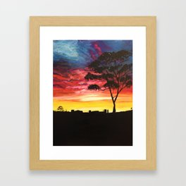 Pilbara Sunset Framed Art Print