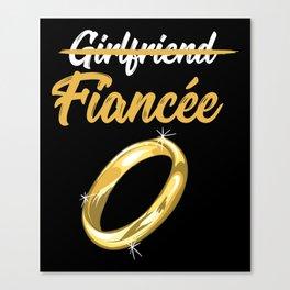 Girlfriend Fiancee Canvas Print