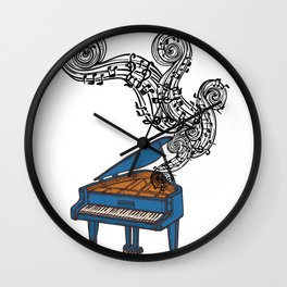 Piano Keys Art Gift - Piano Keyboard Keys Wall Clock