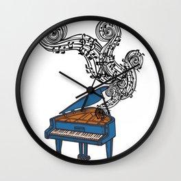 Piano Keys Art Gift - Piano Keyboard Keys Wall Clock