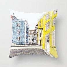 Beautiful Lisbon by Charlotte Vallance Throw Pillow