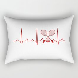 BADMINTON HEARTBEAT Rectangular Pillow