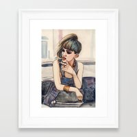 grimes Framed Art Prints featuring Grimes by Helen Green