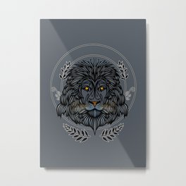 Lion Head Metal Print