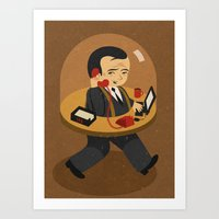 the office Art Prints featuring mobile office by John Holcroft