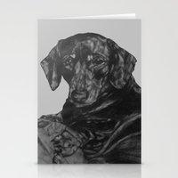 dachshund Stationery Cards featuring Dachshund by Natasha Maiklem