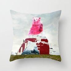 Bear Salute Throw Pillow